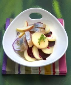 Salade de Princesse Amandine® et pomme fruit au hareng