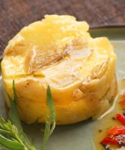 Pommes tapées et filet de cabillaud à l'estragon